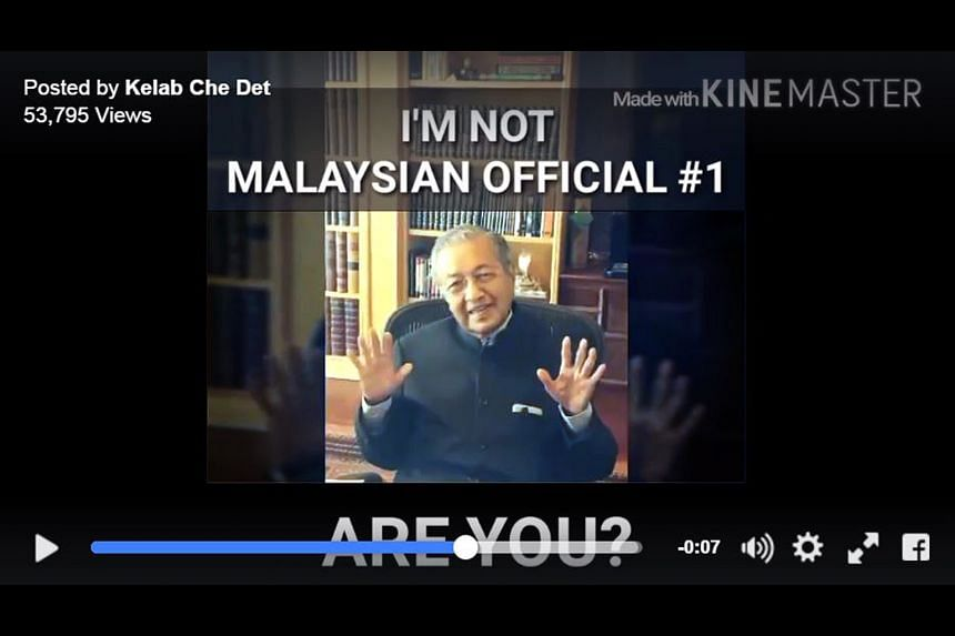 Mr Mahathir declaring he is not the official who received millions from a 1MDB bond sale according to the US Department of Justice.