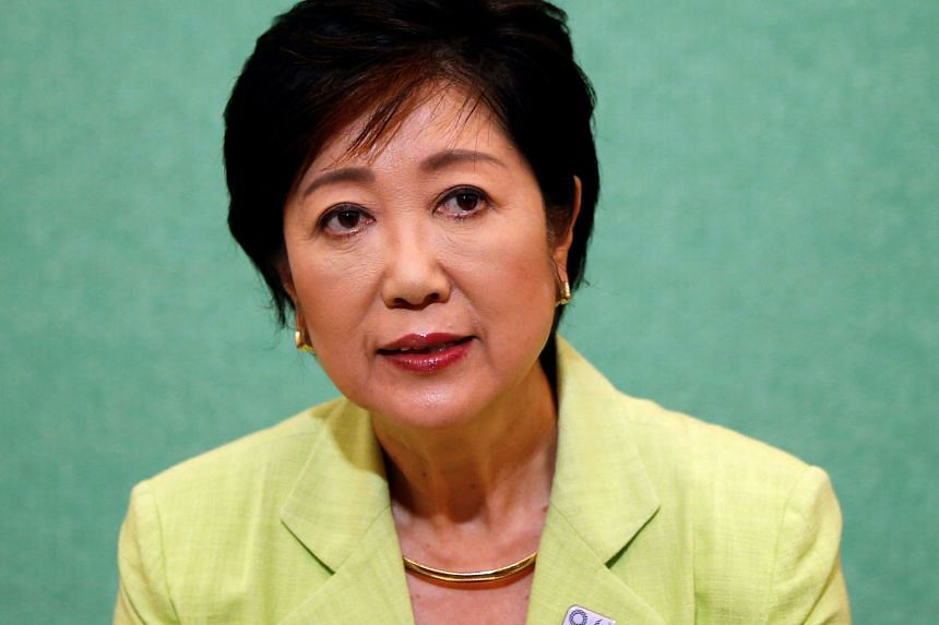 The leading contenders to govern Tokyo are (from top) Ms Koike, Mr Masuda and Mr Torigoe.