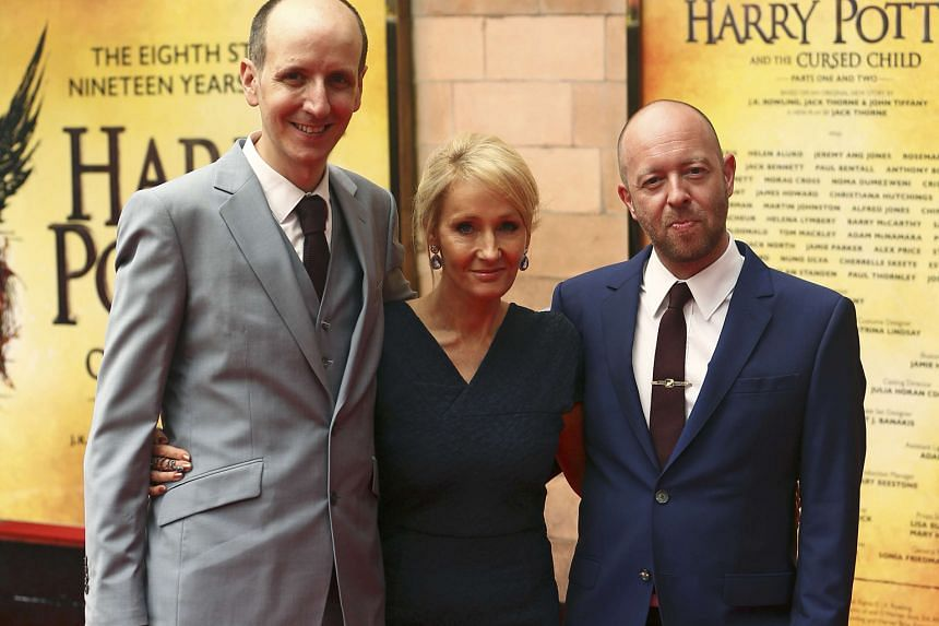 Author J.K. Rowling (above, centre) worked on the plot of Harry Potter And The Cursed Child with playwright Jack Thorne (left) and director John Tiffany.