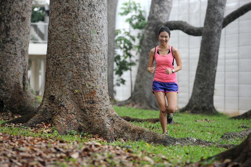 Ms Tan is trying to better her personal best time - five hours and 15 minutes - for a full marathon.