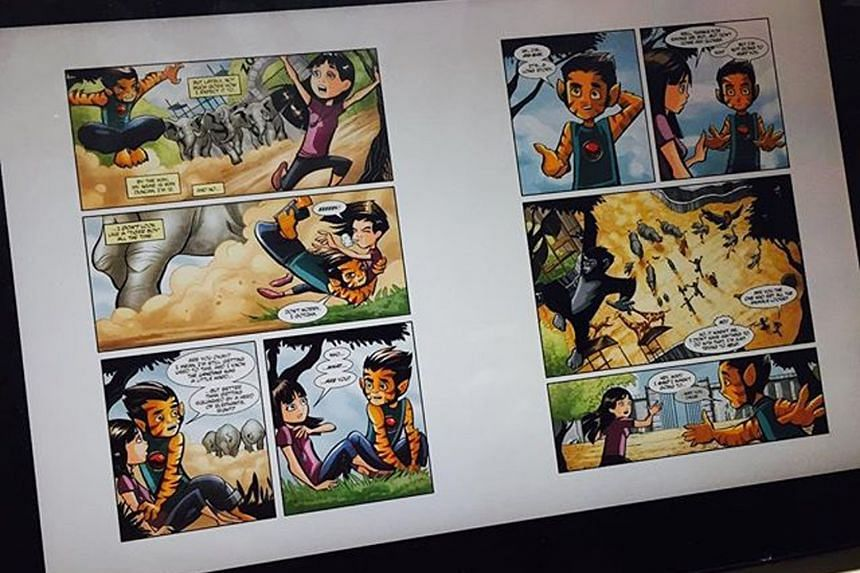 Civil servant Yvonne Ng juxtaposed classic Chinese comics against the  colourful cartoons of the present.