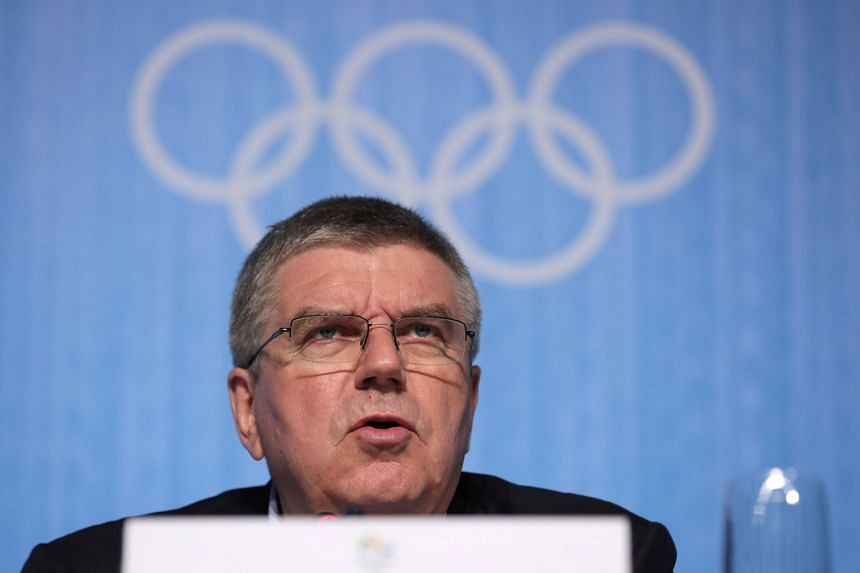 """IOC president Thomas Bach in Rio de Janeiro on Sunday. """"I haven't been talking to any Russian government official since the publication of the McLaren report,"""" he said."""