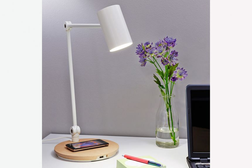 The Ikea Riggad LED work lamp, according to Ikea, is one of the bestsellers in its wireless charging range.
