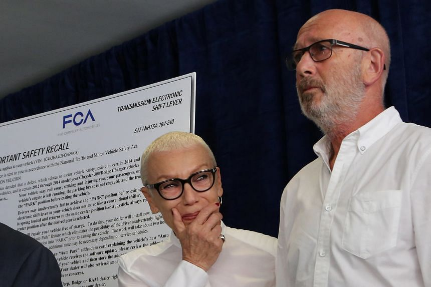 Victor and Irina Yelchin (both right), parents of late actor Anton Yelchin (above), announced their wrongful death lawsuit against Fiat Chrysler at a press conference on Tuesday.