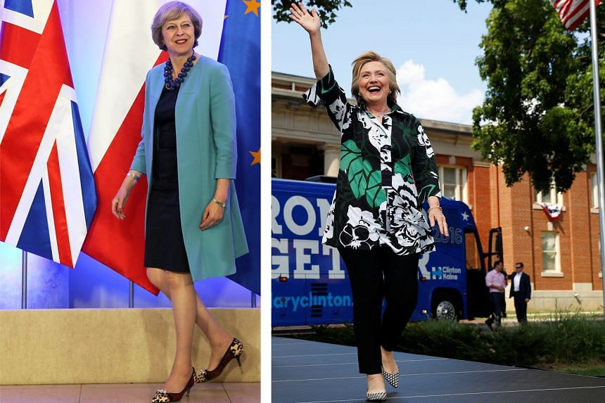 British Prime Minister Theresa May (far left) and Democratic presidential nominee Hillary Clinton (left) are changing the rules about what it means to look like a prime minister or president.