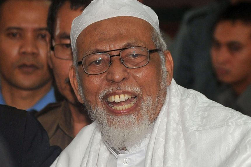 Bashir in court in 2011. The cleric's legal team had argued that funds he collected were intended to help people in the Palestinian territories, but ended up being sent to an Aceh group instead.