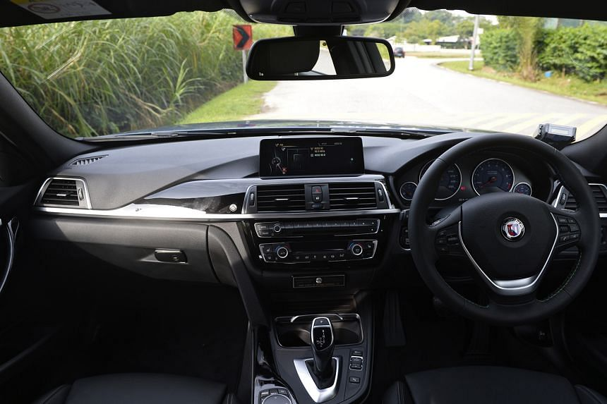 The Alpina B3 Biturbo Touring has soft, supportive seats and motorised, memory and easy-access functions found in a luxe barge.