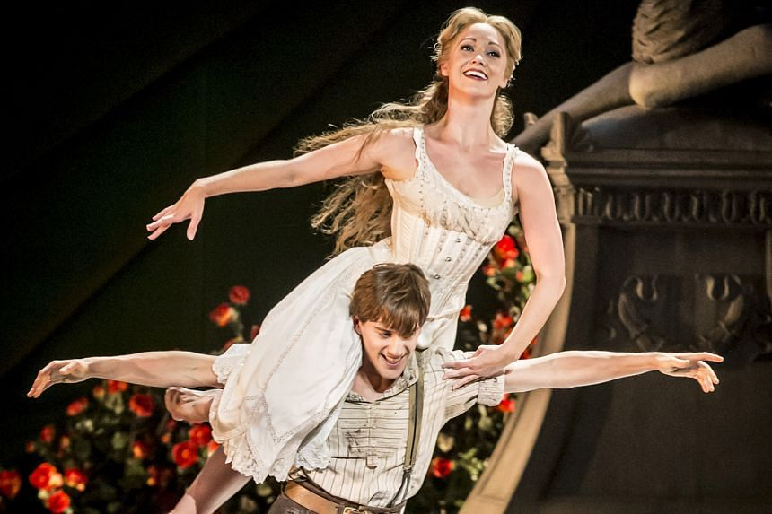 Dominic North as Leo and Ashley Shaw as Aurora in Matthew Bourne's Sleeping Beauty.