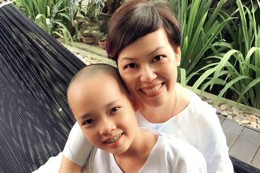 Zara Yong (with her mother Zerlina Sim), 11, had a shave and raised more than $35,000 for the Children's Cancer Foundation.