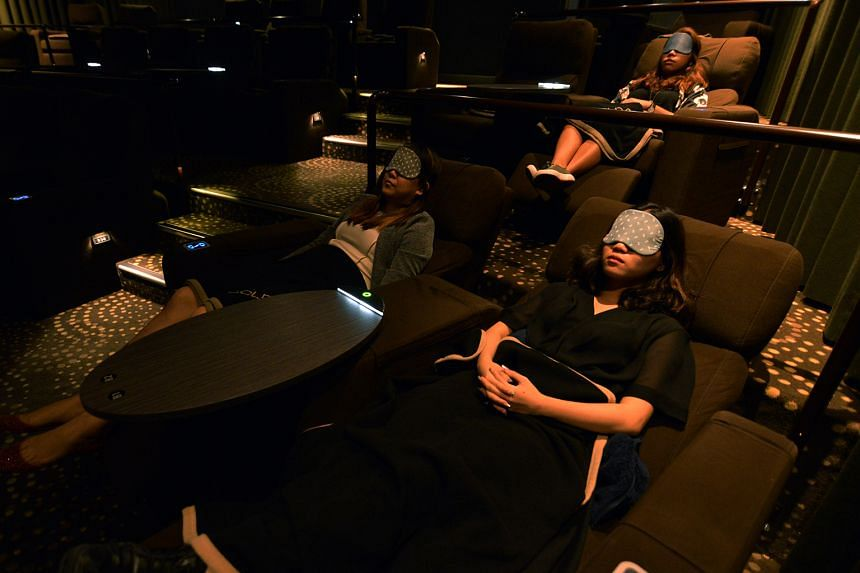 Two-thirds of Golden Village Suntec City's 32 seats are usually booked for its lunchtime service, which allows patrons to buy a $12 ticket for a 90-minute nap in its Gold Class theatre.