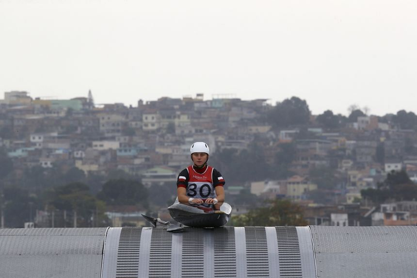 Natalia Pacierpnik of Poland training for the canoe slalom at the Whitewater Stadium in Rio de Janeiro on Wednesday. Many would-be Olympic host cities are sitting out the chance to organise the event.