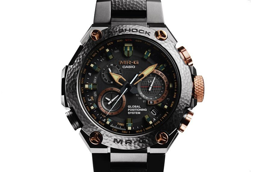 G-Shock founder Kikuo Ibe's first watch for the brand was launched in 1983. Launched to celebrate the 20th anniversary of G-Shock's premium MR-G line, the MRG-G1000HT watch (above) is made with titanium.