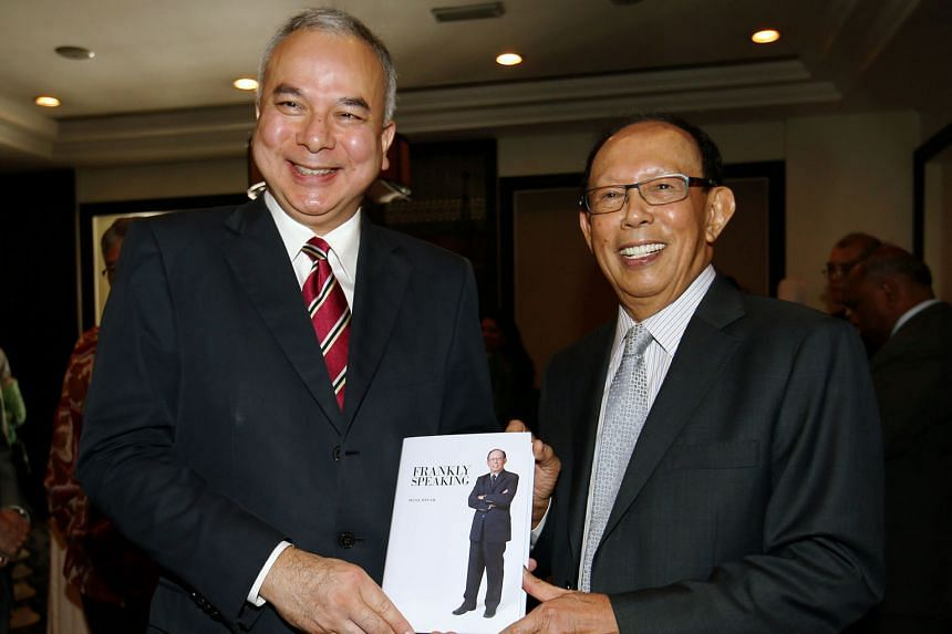 """Mr Musa (right) with the Sultan of Perak Raja Nazrin Shah at the launch of his book yesterday. Mr Musa said he felt the next elections would be held """"very soon"""" and the opposition needs to come together quickly."""
