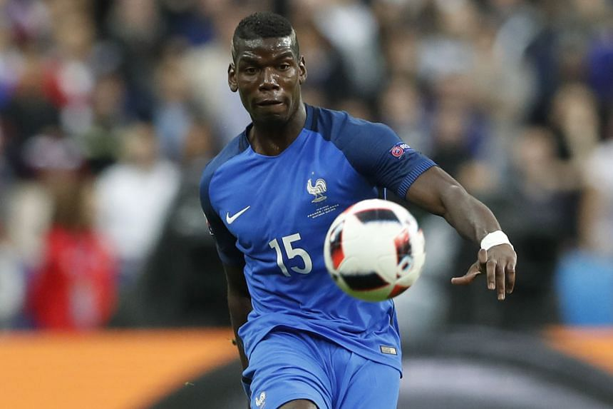 Manchester United's Paul Pogba in action during Euro 2016 last month. Online streaming provider Eleven's package offers three EPL live games and three delayed telecasts.