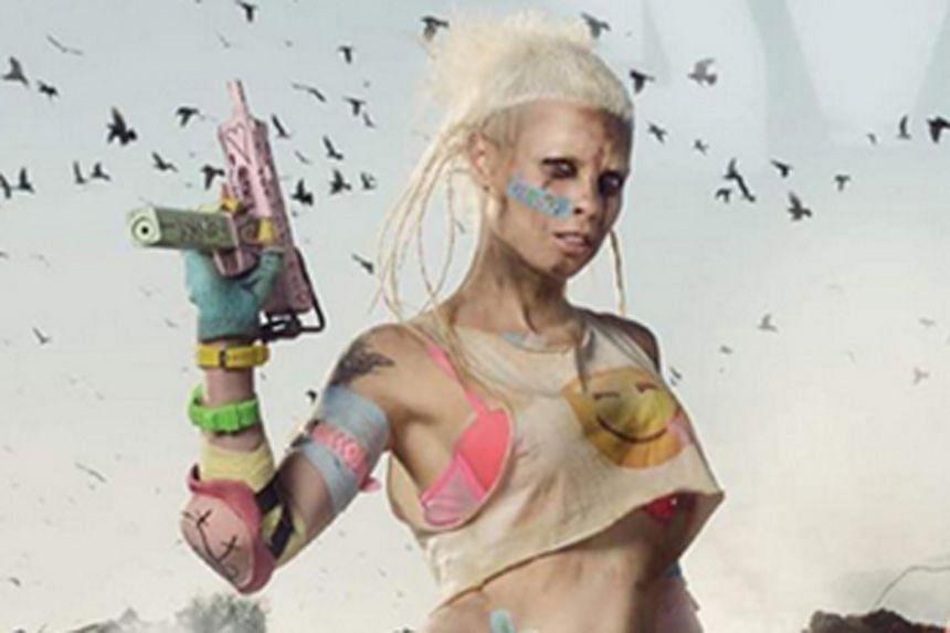 Photo promoting Die Antwoord's single Banana Brain.
