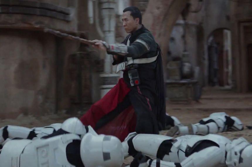 Actor Donnie Yen in the new Star Wars trailer.