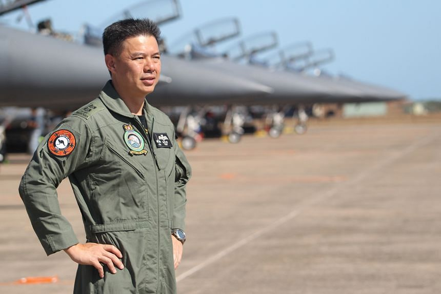 Senior Lieutenant-Colonel David Lim says the vast air space available in the exercise allows the Republic of Singapore Air Force to deploy weapons that explode on the ground.
