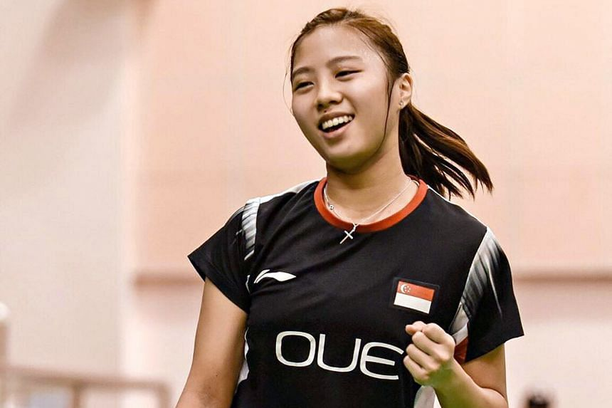 Singapore's Yeo Jia Min at the Vietnam Open Grand Prix last month, where she claimed her maiden professional title. She will soon be back in action at the India Junior International Badminton Championships in September.