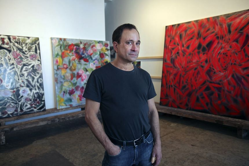 Artist Ross Bleckner, seen in this 2009 picture taken in his studio, painted Sea And Mirror, which actor Alec Baldwin had sought to buy.