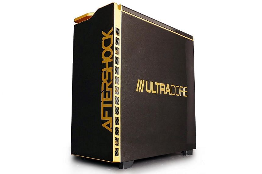 The Ultracore's impressive cooling system is a visual spectacle, with LEDs and coloured coolant showing through the chassis' side window.