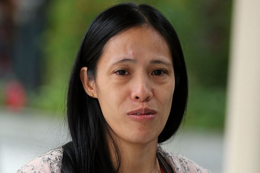 In one case of maid abuse, Li Guizhen was sentenced to a week's jail for kneeing Nwe Ni Hlaing (pictured) in the chin.