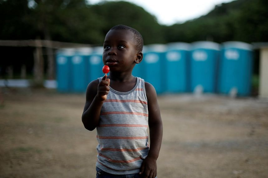 An African migrant child at a temporary shelter in La Cruz, Costa Rica. Some US students see Central America as a prose-ready opportunity to help them get into university.