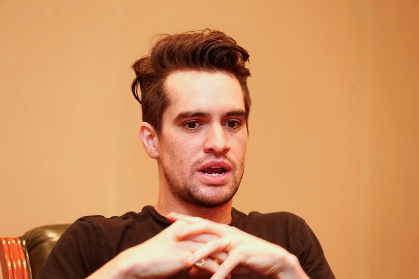 SINGER BRENDON URIE of Panic! At The Disco