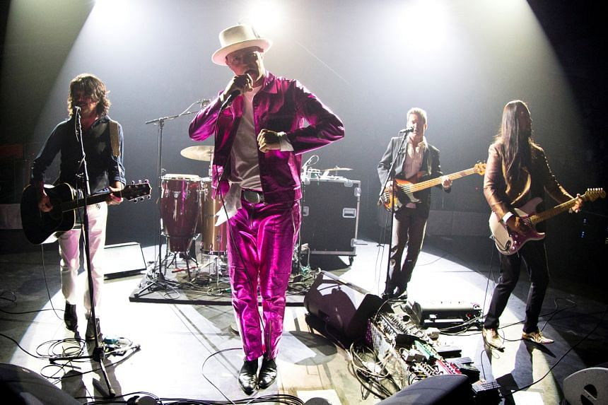 The Tragically Hip lead singer Gord Downie performing on July 22. He was diagnosed with brain cancer last December.