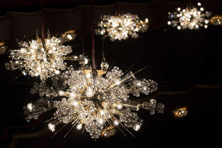 The Metropolitan Opera's chandeliers, known as the sputniks.