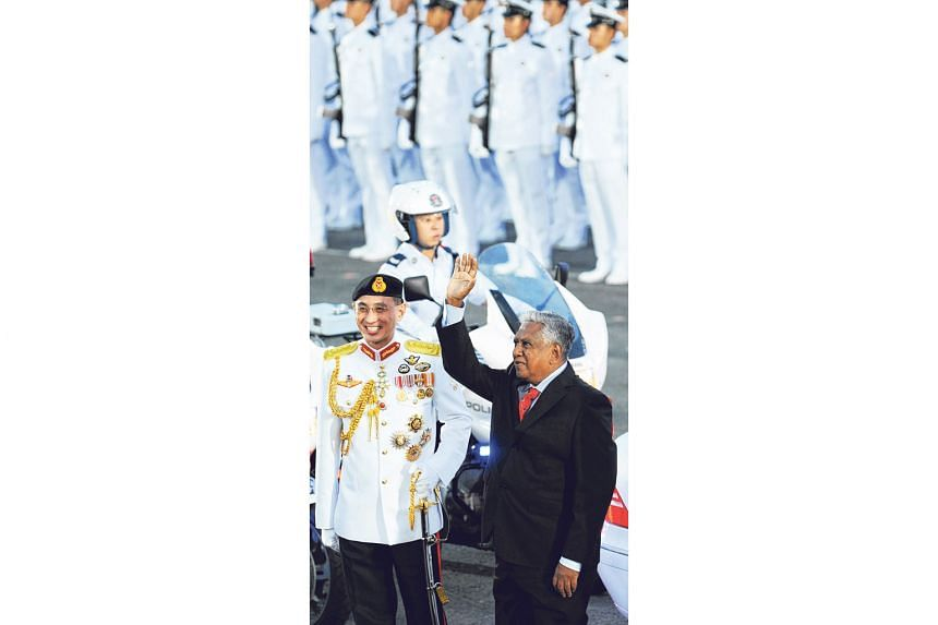 President Nathan at the 2009 National Day Parade, with Chief of Defence Force Desmond Kuek. In his two terms as Singapore's president, he was a friend to the ordinary man and a top Singapore flag-bearer abroad. Having grappled with poverty in his gro