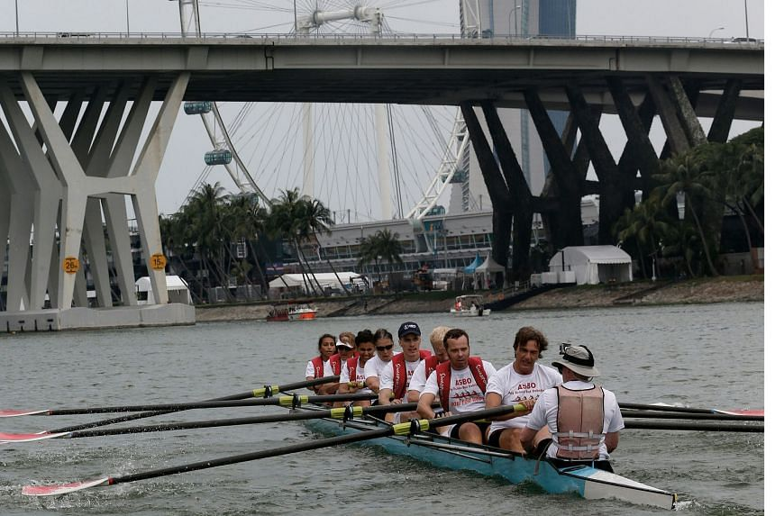 Nearly 100 members from Oxbridge Singapore and cancer survivor and support group Pink Spartans rowed their hearts out for charity in the first Row For Hope boat race.