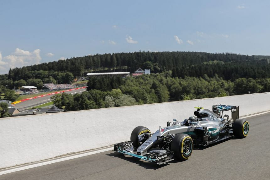 Nico Rosberg defied yesterday's sizzling conditions at Spa, where the air temperature reached 36 deg C, to bag pole position for the fifth time this season.