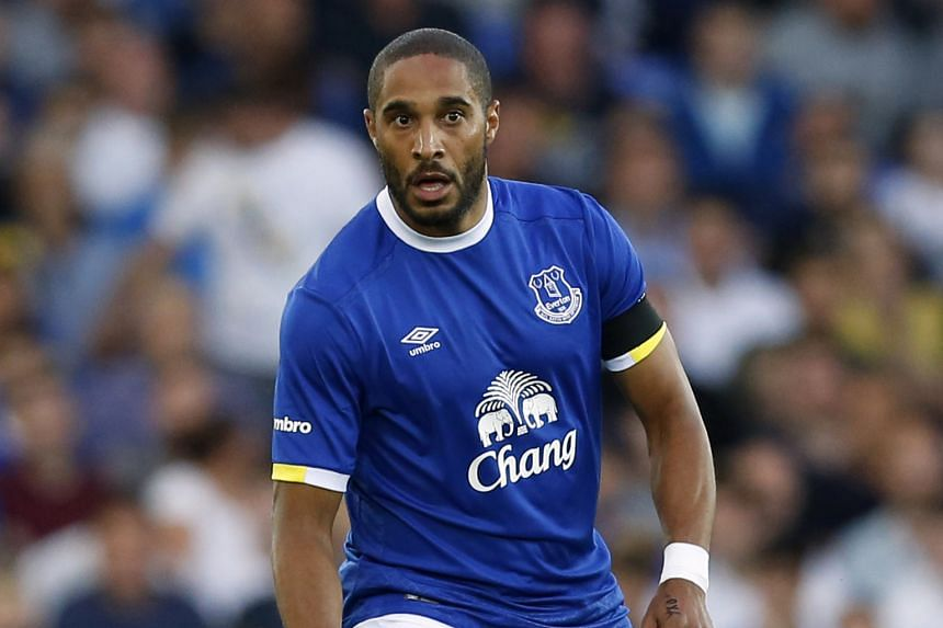 Ashley Williams, 32, weighing up his options during Everton's 4-0 win against Yeovil Town in the second round of the League Cup at Goodison Park on Tuesday.