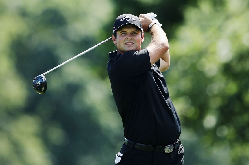 Patrick Reed of the United States hitting his tee shot on the fifth hole during the third round of The Barclays on Saturday. He is also aiming for Ryder Cup selection to face Europe in five weeks.