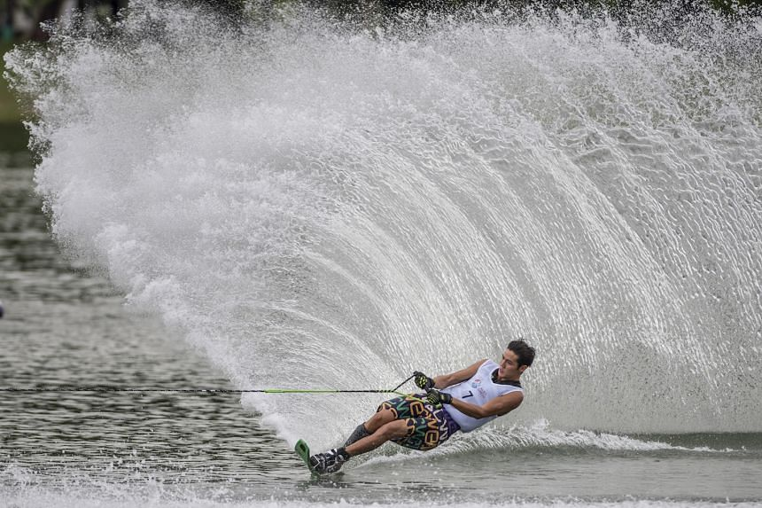 Singapore's Mark Leong, 18, won his first Asian slalom title at the Asian Waterski & Wakeboard Championships in Korea on Saturday, rounding 4.5 buoys on the 12m rope.