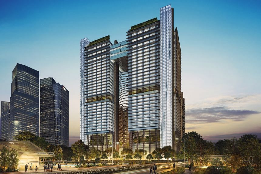 Bank of Tokyo-Mitsubishi has pre-leased 140,000 sq ft at the upcoming Marina One development (artist's impression above).