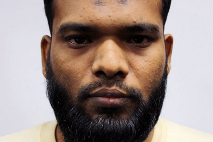 The culprits arriving for their trial in a heavily guarded convoy that included police armoured vehicles. They were found with a list of targets in Bangladesh and bomb-making manuals. Zzaman Daulat (left) was sentenced to two years' jail, while Mamun