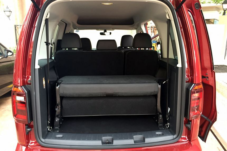The Volkswagen Caddy offers decent leg room in every row and the third row can be removed to accommodate extra-large items.