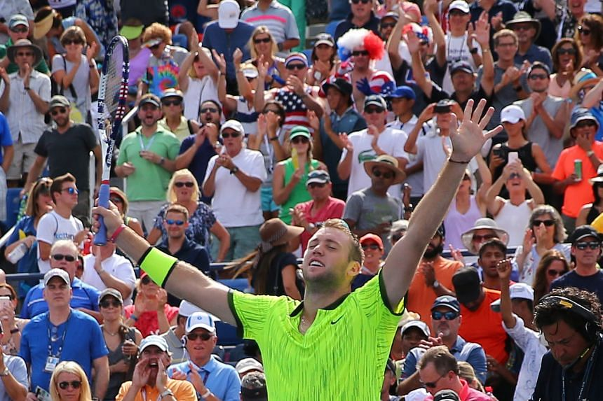Jack Sock, the No. 26 seed, acknowledging the crowd after his 6-4, 6-3, 6-3 win against the No. 7 seed, Marin Cilic of Croatia, on Friday.
