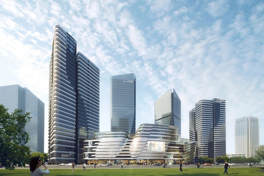Home owners of CDL properties in China, such as Hong Leong City Centre in Suzhou (above), will be able to list their apartments on the mamahome platform (below), which provides a booking website, online management software and other services, includi