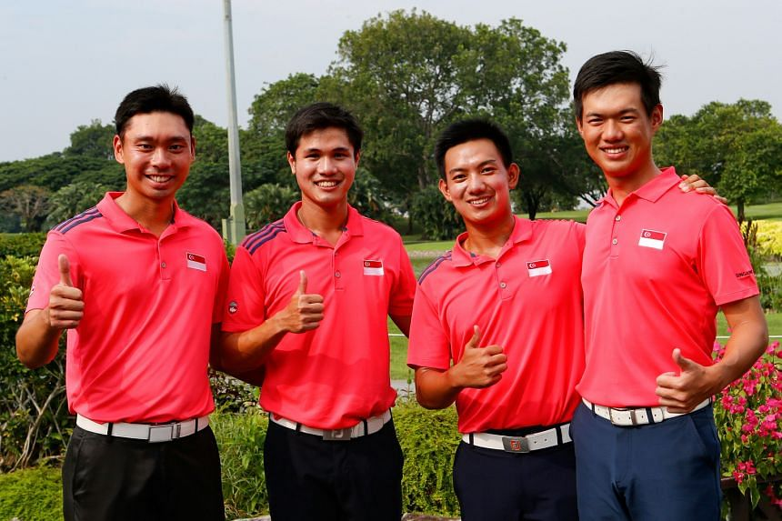 (From left) Joshua Shou, Gregory Foo, Marc Ong and Joshua Ho will represent Singapore in the 56th Putra Cup which starts today to Friday. The team were runners-up to Thailand last year with Foo winning the individual trophy.
