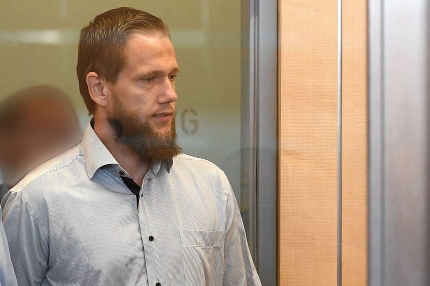 Islamist preacher Sven Lau arriving at the courtroom before his trial yesterday. He is accused of supporting a terrorist group.