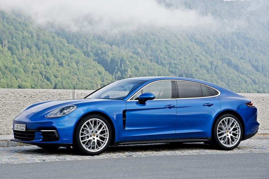 The Porsche Panamera may be bigger than its predecessor, but it looks sleeker and less rotund.