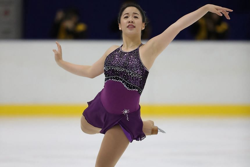 Singapore figure skater Chloe Ing, 18, competing at the ISU Junior Grand Prix in Yokohama, Japan. She moved to Toronto at age seven to pursue figure skating. She occasionally works with renowned Canadian coach Brian Orser.