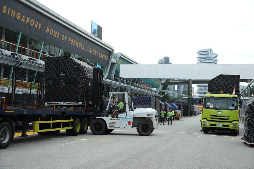 The F1 pit building and garages at Marina Bay roared to life yesterday, with the arrival of Formula One cargo. The Singapore Airlines Singapore Grand Prix runs from Friday to Sunday. Over the next few days, more than 700 tonnes of cargo from the Inte