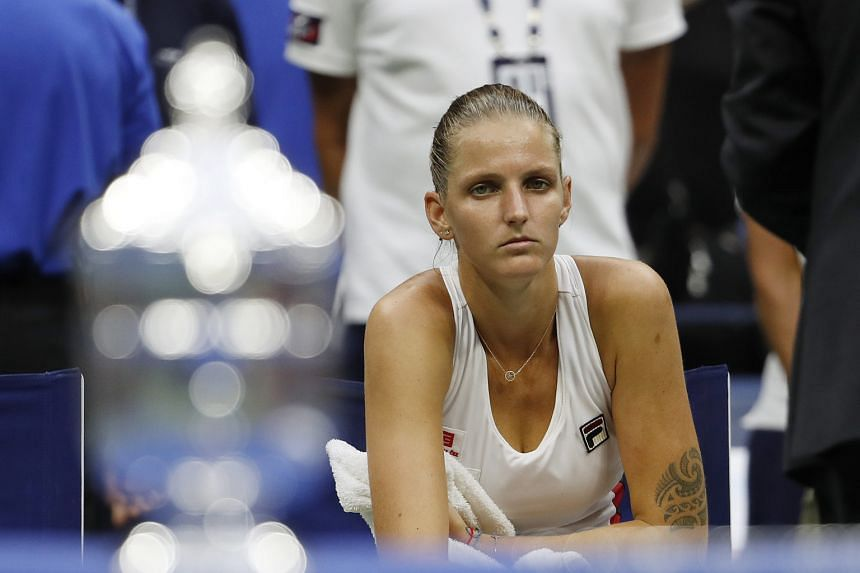 Karolina Pliskova ponders her loss in the US Open final to Angelique Kerber. She was playing in her first Major final.