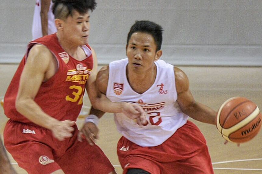 Richard Neo, 26, and Filipino Jeff Viernes, 27, are two of the three new players the Singapore Slingers will be fielding for basketball's Merlion Cup from Sept 21-25. The other new face is Tay Ding Loon, 22. The Merlion Cup is back after 20 years and