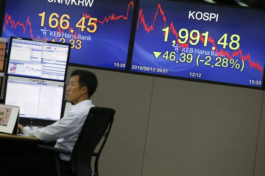 Samsung shares - South Korea's largest by value - dropped 7 per cent to close at 1.46 million won on the Seoul stock market yesterday, the lowest in two months.