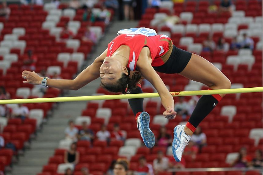 Singapore's top high jumper Michelle Sng clearing 1.81m to clinch the SEA Games bronze at the National Stadium in June last year. It was her first Games medal and spurred her to have another go in Malaysia next year.