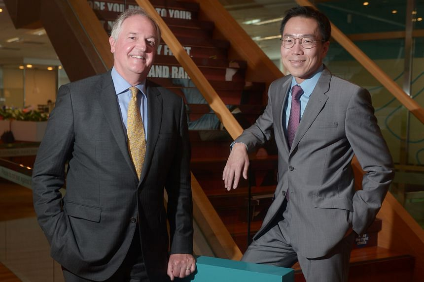 """Singapore's tech ecosystem should not be judged solely by its ability to produce the next Facebook or Google, say Mr Polman and Dr Beh. """"That way of thinking was part of the old world,"""" says Mr Polman."""